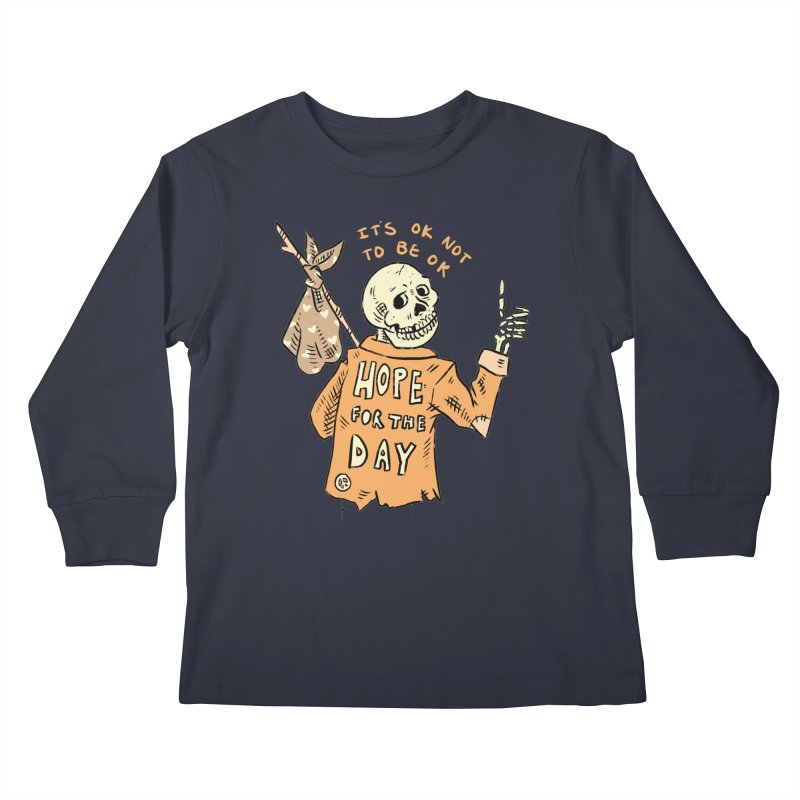 Karen Mooney - Down But Not Out Kids Longsleeve T-Shirt by Hope for the Day Shop
