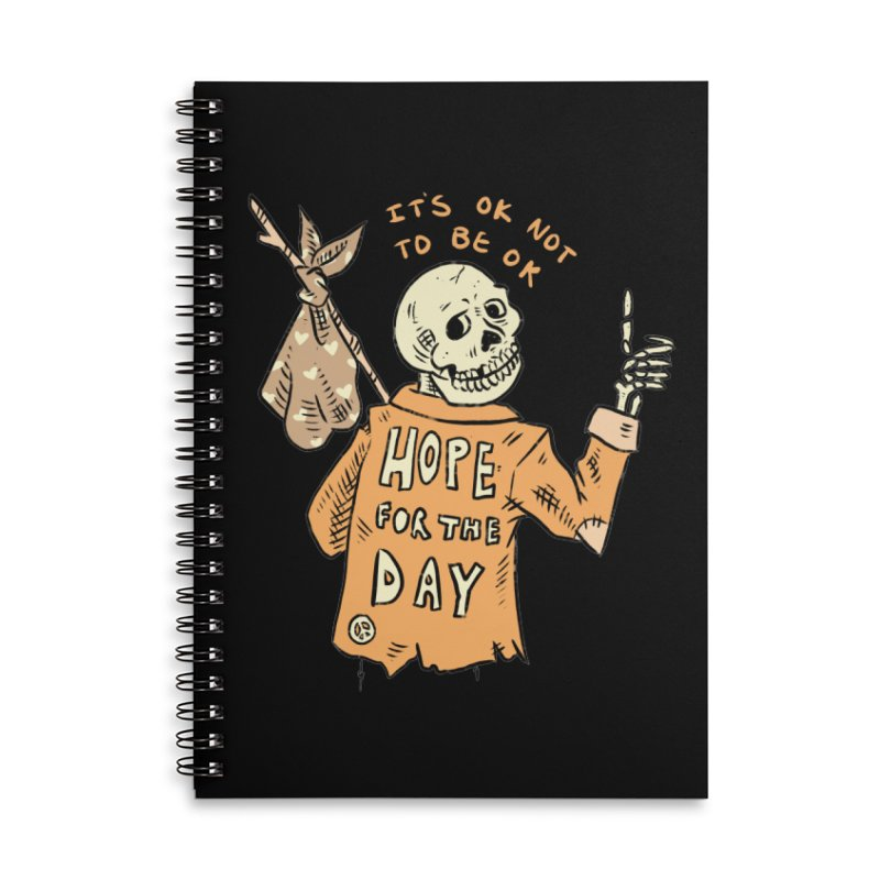 Karen Mooney - Down But Not Out Accessories Notebook by Hope for the Day Shop
