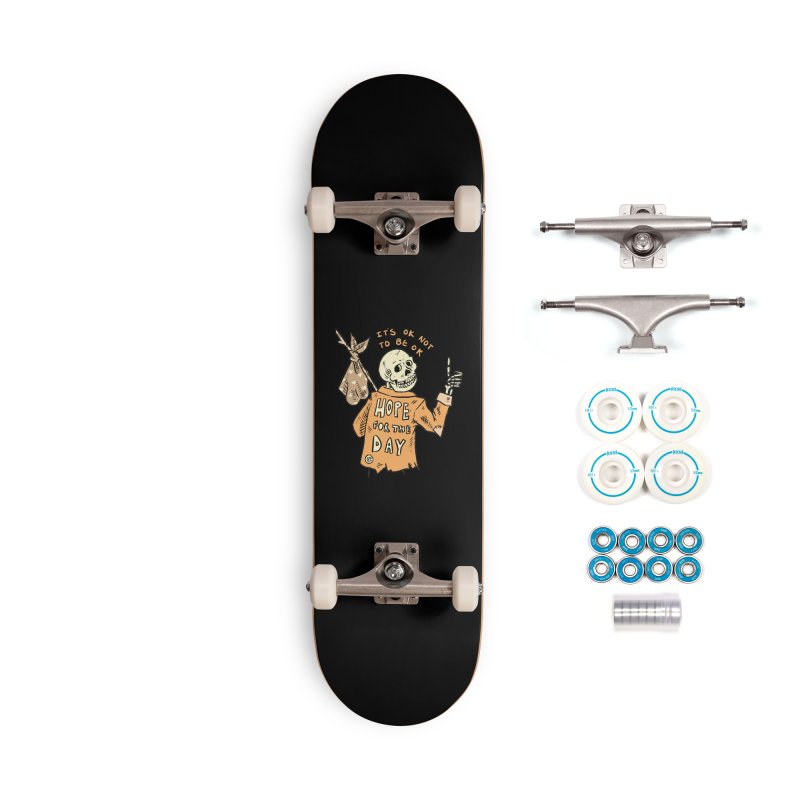 Karen Mooney - Down But Not Out Accessories Skateboard by Hope for the Day Shop