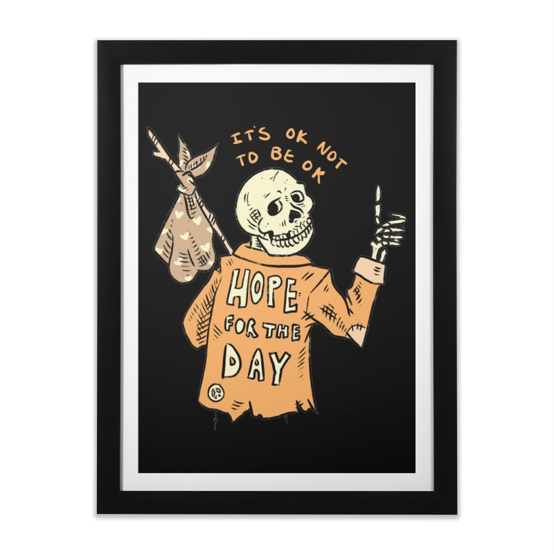 Karen Mooney - Down But Not Out Home Framed Fine Art Print by Hope for the Day Shop