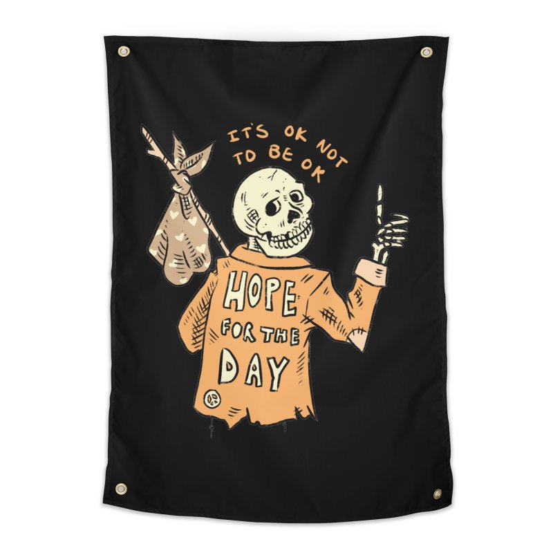 Karen Mooney - Down But Not Out Home Tapestry by Hope for the Day Shop