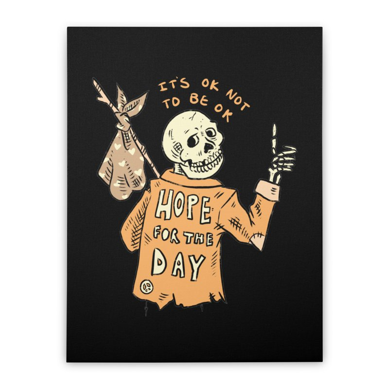 Karen Mooney - Down But Not Out Home Stretched Canvas by Hope for the Day Shop