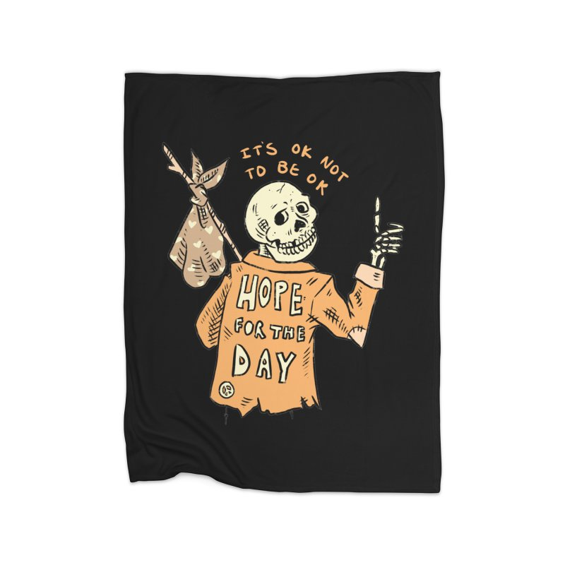 Karen Mooney - Down But Not Out Home Fleece Blanket Blanket by Hope for the Day Shop