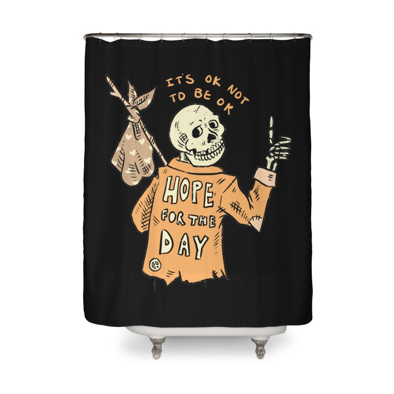 Karen Mooney - Down But Not Out Home Shower Curtain by Hope for the Day Shop