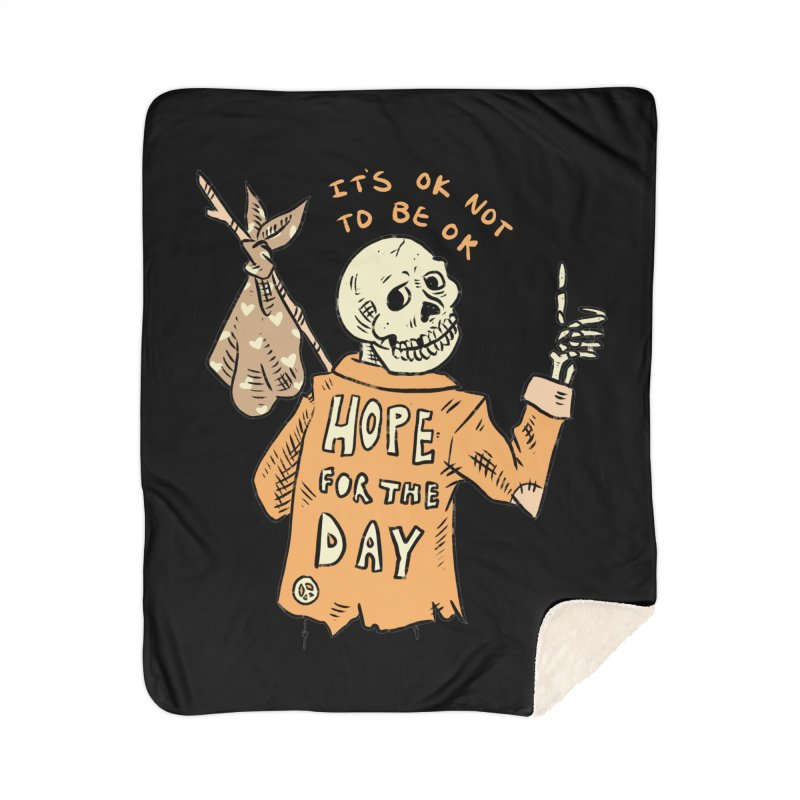Karen Mooney - Down But Not Out Home Sherpa Blanket Blanket by Hope for the Day Shop