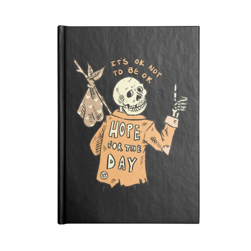 Karen Mooney - Down But Not Out Accessories Lined Journal Notebook by Hope for the Day Shop