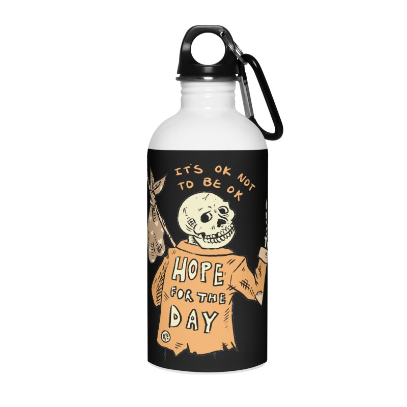 Karen Mooney - Down But Not Out Accessories Water Bottle by Hope for the Day Shop