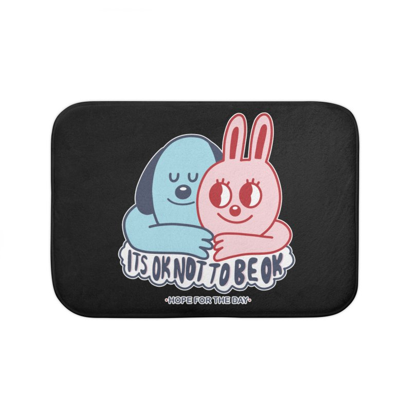 Blake Jones - Its OK Home Bath Mat by Hope for the Day Shop