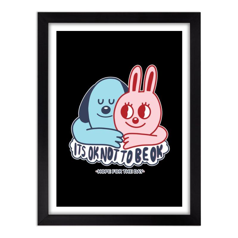 Blake Jones - Its OK Home Framed Fine Art Print by Hope for the Day Shop