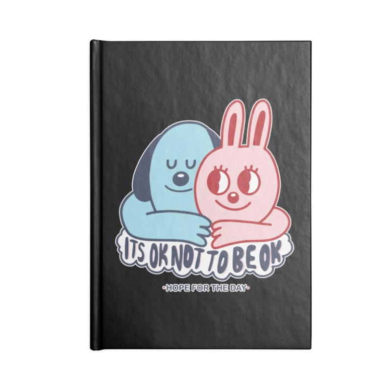 Blake Jones - Its OK Accessories Lined Journal Notebook by Hope for the Day Shop