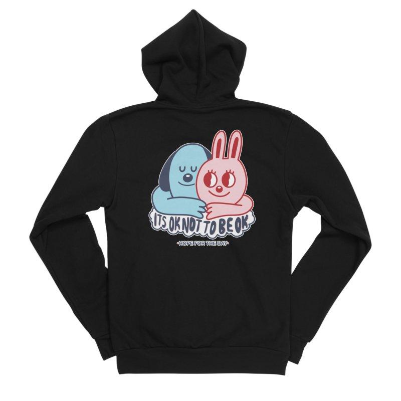 Blake Jones - Its OK Women's Sponge Fleece Zip-Up Hoody by Hope for the Day Shop