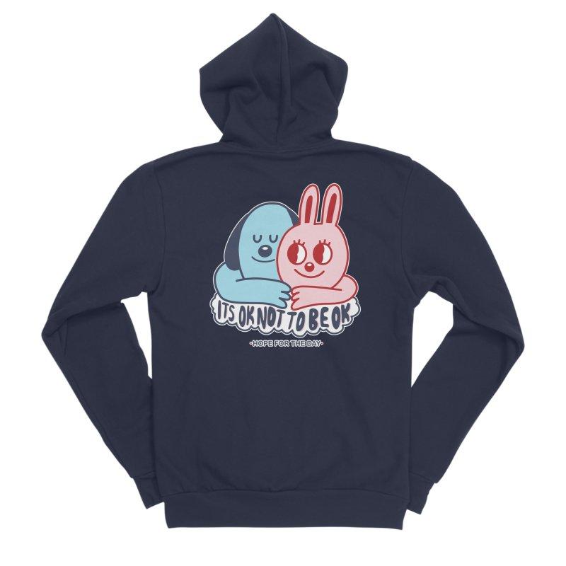 Blake Jones - Its OK Men's Sponge Fleece Zip-Up Hoody by Hope for the Day Shop