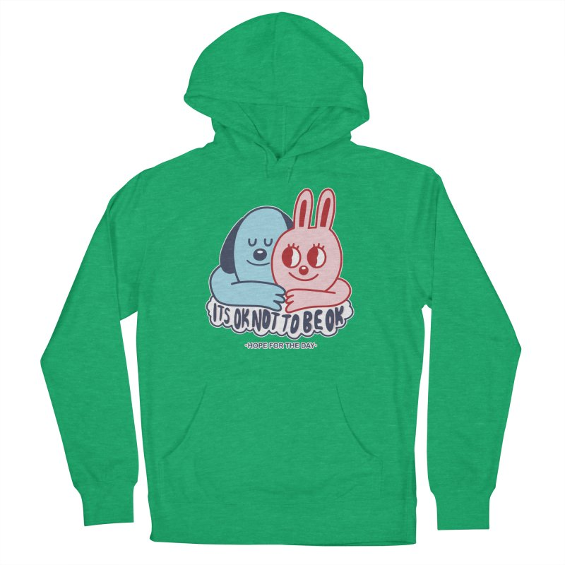 Blake Jones - Its OK Men's French Terry Pullover Hoody by Hope for the Day Shop