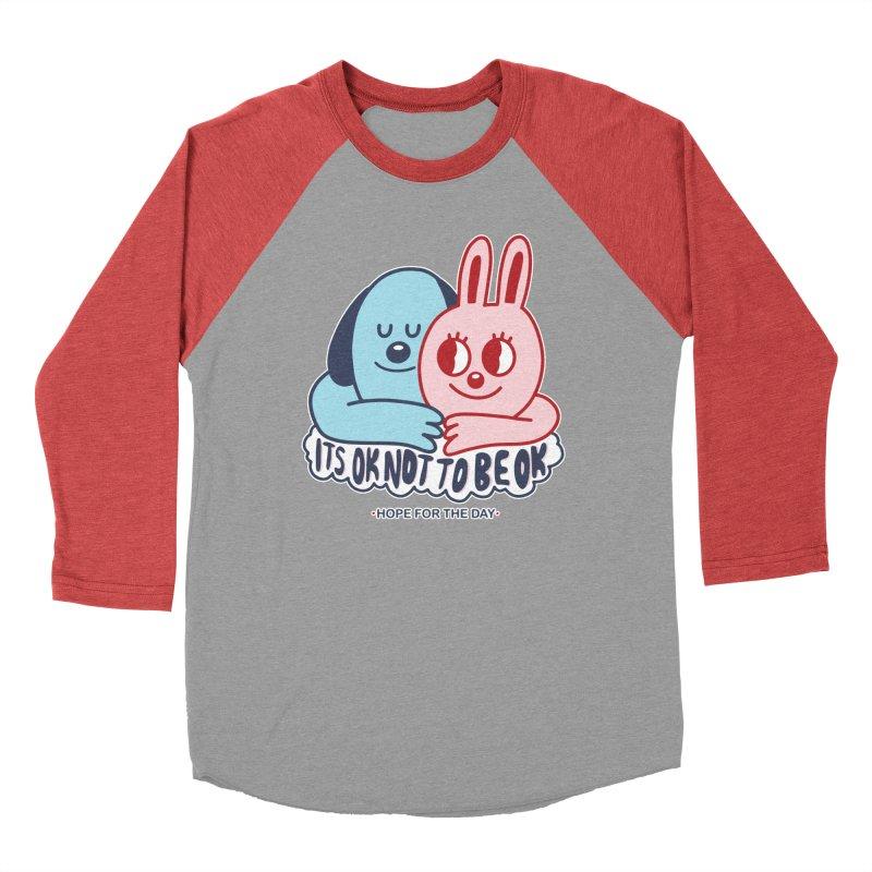 Blake Jones - Its OK Women's Baseball Triblend Longsleeve T-Shirt by Hope for the Day Shop