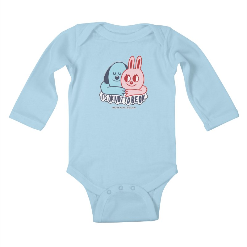 Blake Jones - Its OK Kids Baby Longsleeve Bodysuit by Hope for the Day Shop