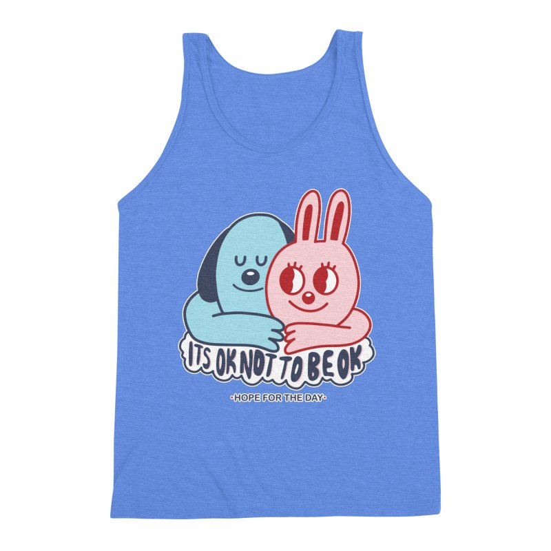 Blake Jones - Its OK Men's Triblend Tank by Hope for the Day Shop