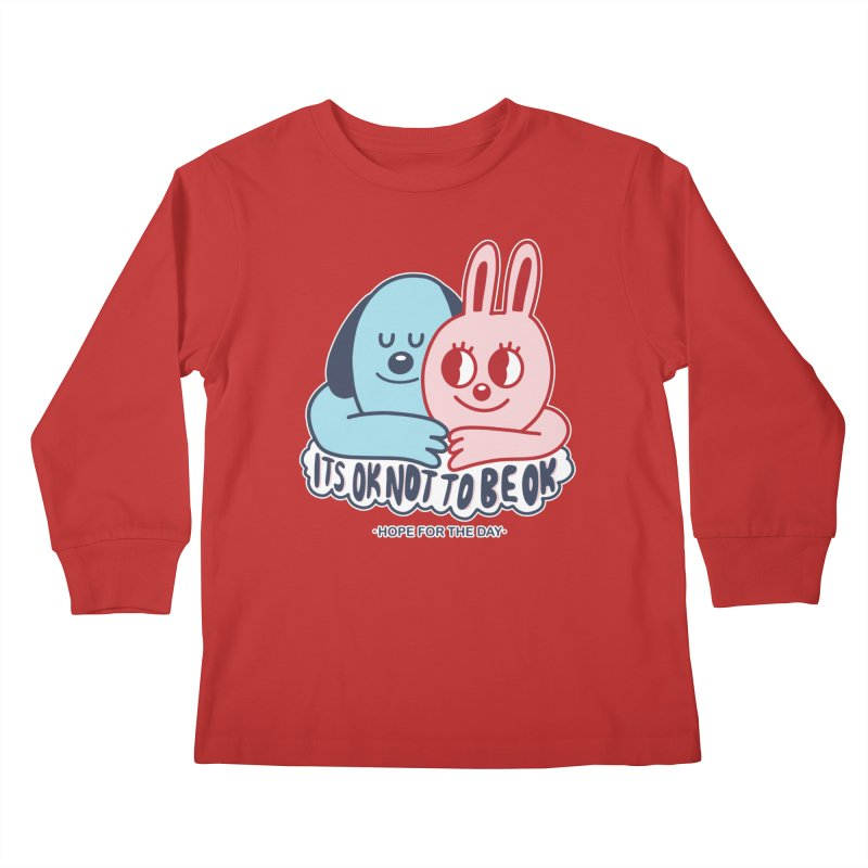 Blake Jones - Its OK Kids Longsleeve T-Shirt by Hope for the Day Shop