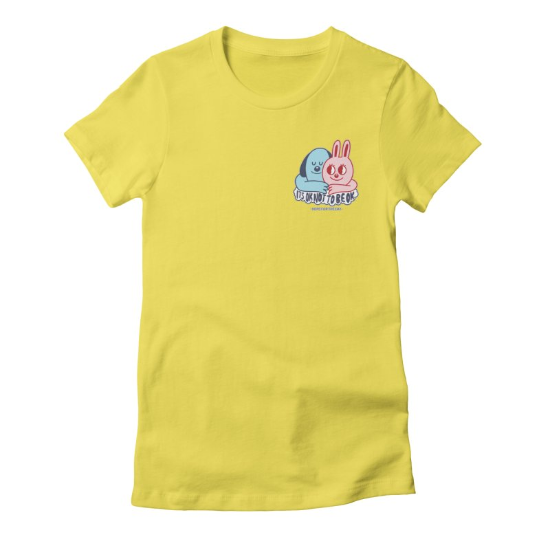 Blake Jones - Its OK Pocket Women's Fitted T-Shirt by Hope for the Day Shop