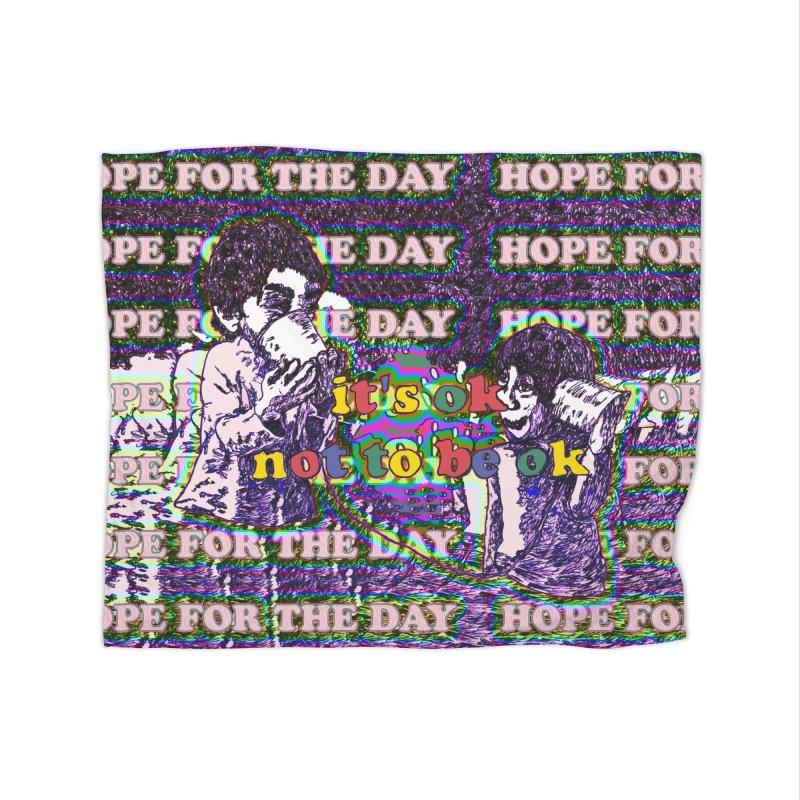 Zacq Rosen - SpreadTheWord! Home Fleece Blanket Blanket by Hope for the Day Shop