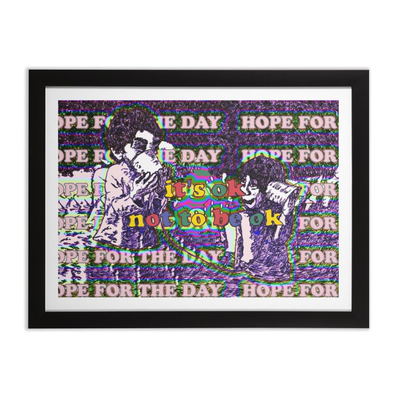 Zacq Rosen - SpreadTheWord! Home Framed Fine Art Print by Hope for the Day Shop
