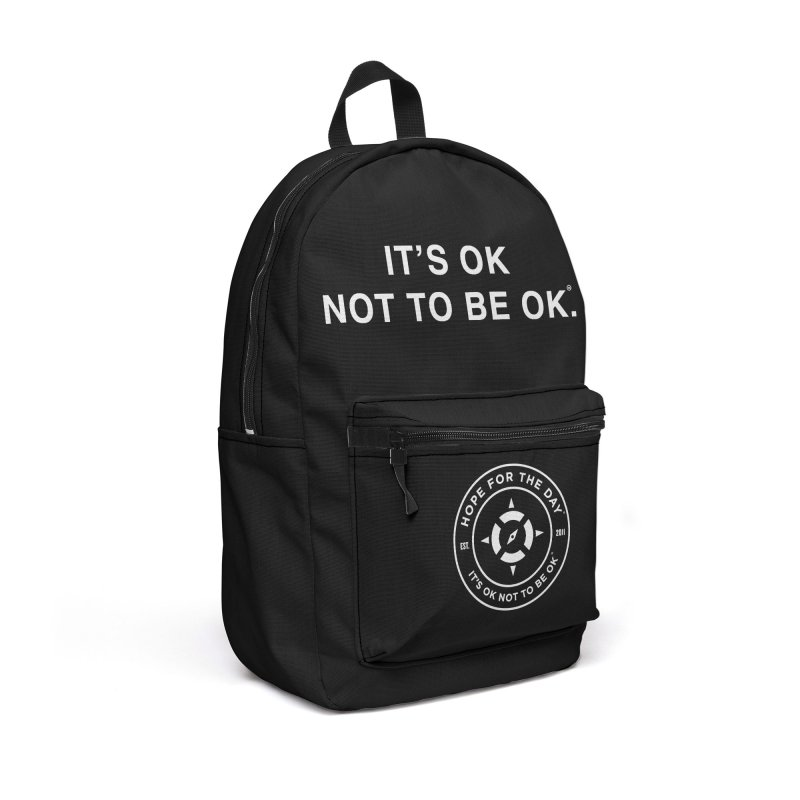 IT'S OK White Lettering Accessories Backpack Bag by Hope for the Day Shop