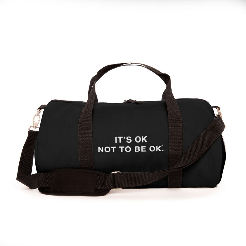 IT'S OK White Lettering Accessories Bag by Hope for the Day Shop
