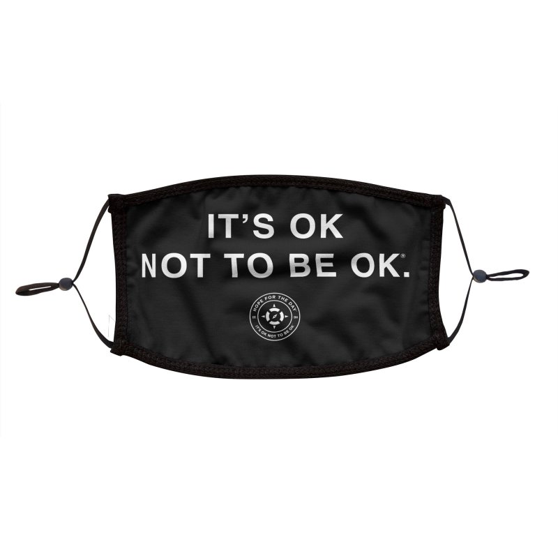 IT'S OK White Lettering Accessories Face Mask by Hope for the Day Shop