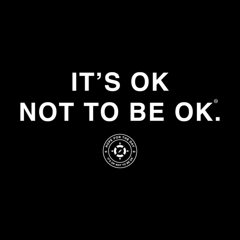 It's Ok White Lettering by Hope for the Day Shop