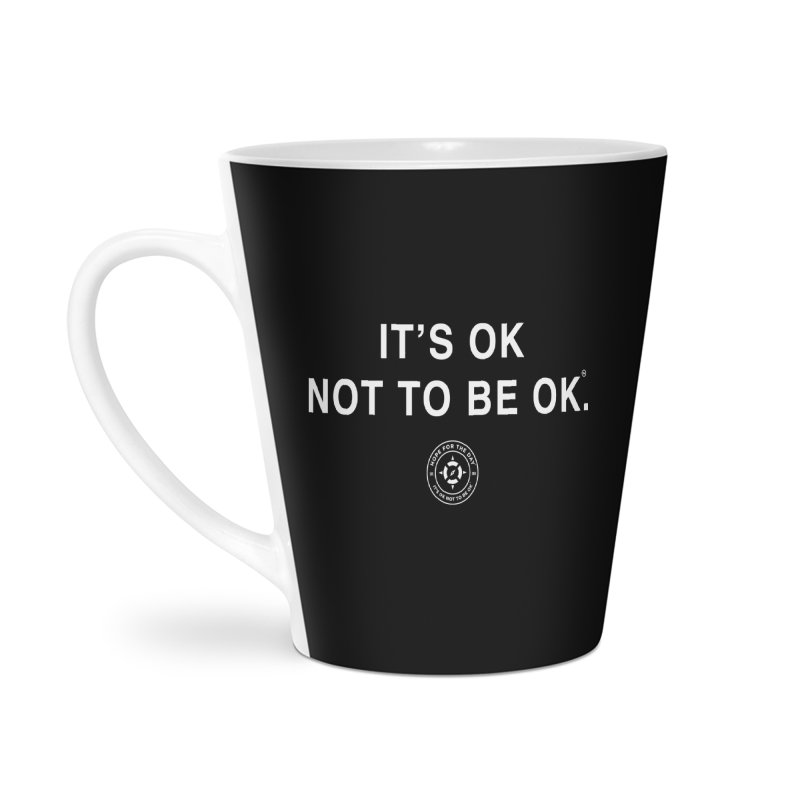 IT'S OK White Lettering Accessories Latte Mug by Hope for the Day Shop