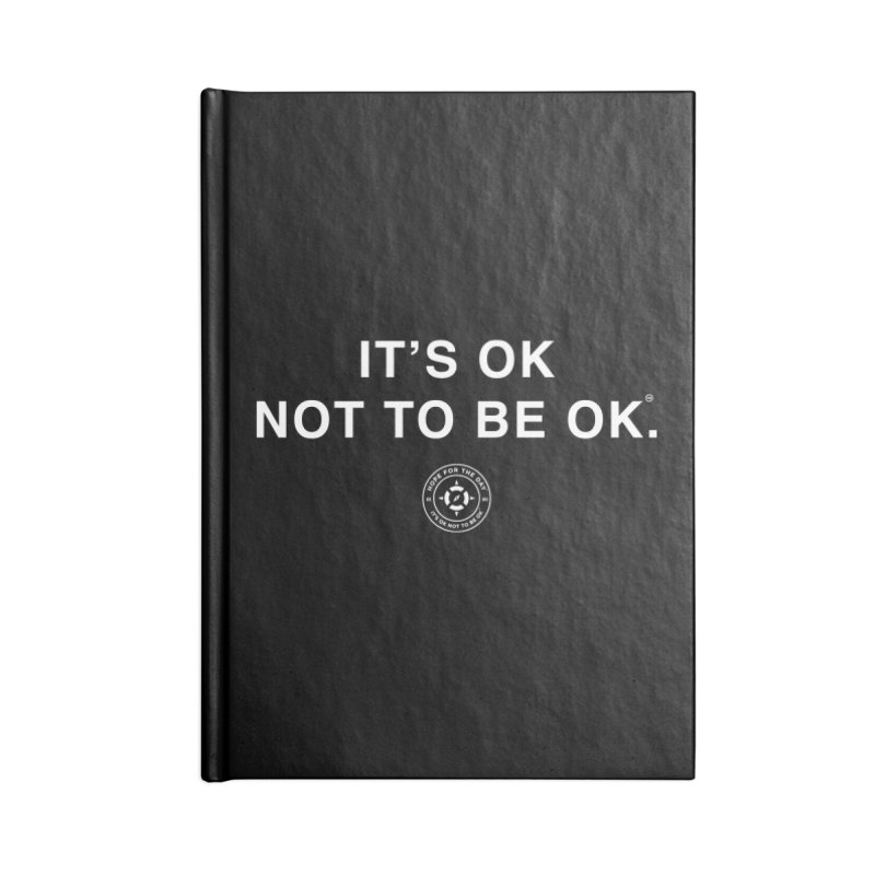 IT'S OK White Lettering Accessories Notebook by Hope for the Day Shop