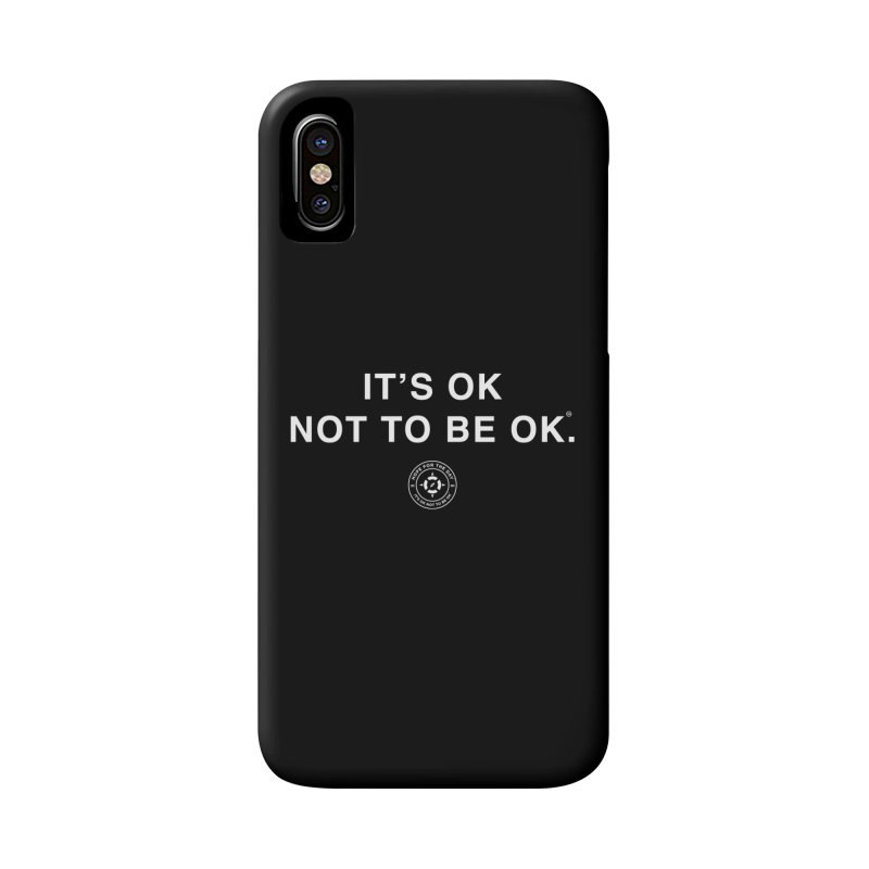 IT'S OK White Lettering Accessories Phone Case by Hope for the Day Shop