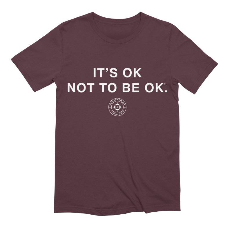 IT'S OK White Lettering Men's T-Shirt by Hope for the Day Shop