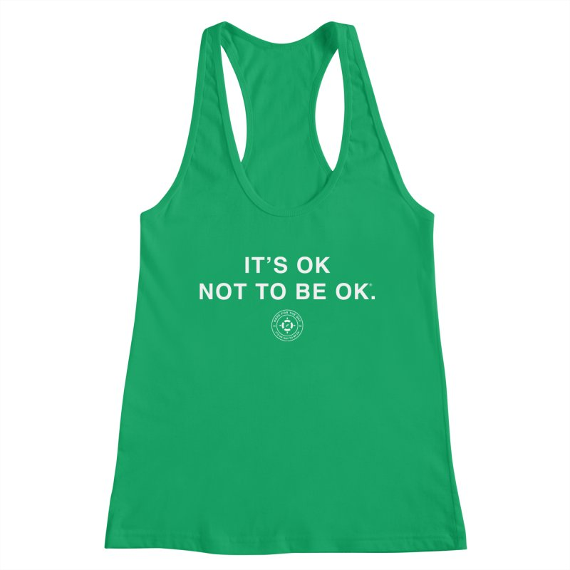 IT'S OK White Lettering Women's Tank by Hope for the Day Shop