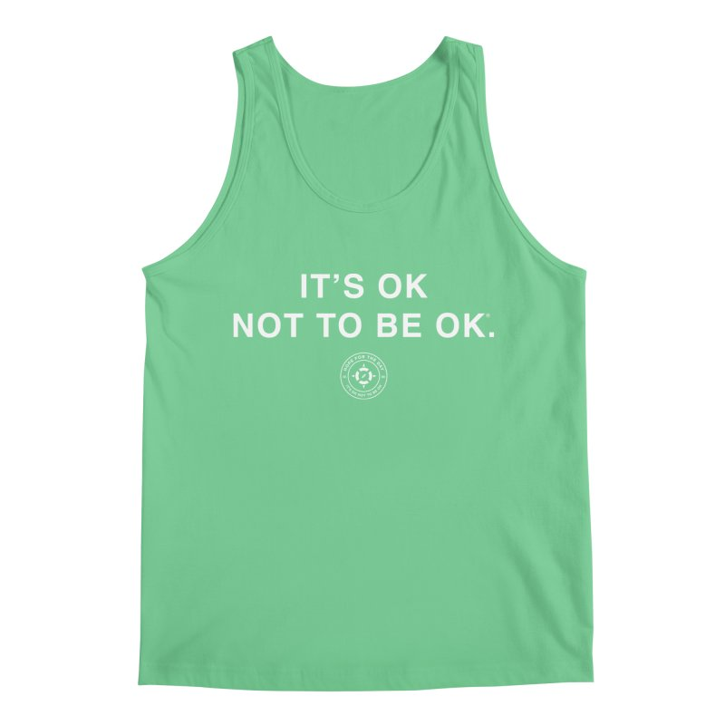 IT'S OK White Lettering Men's Tank by Hope for the Day Shop