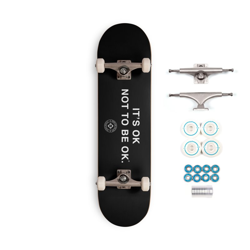 IT'S OK White Lettering Accessories Complete - Basic Skateboard by Hope for the Day Shop