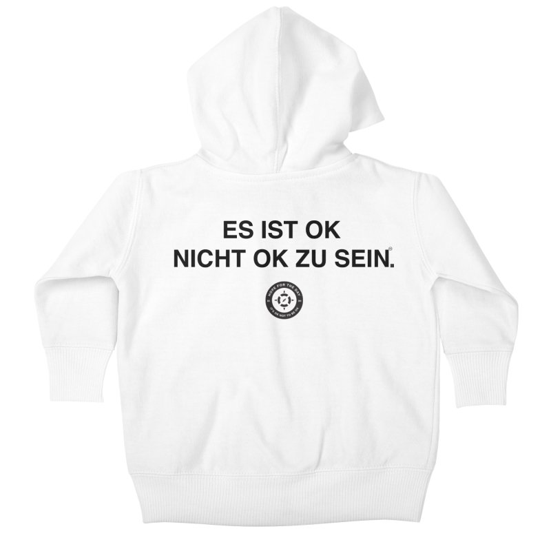 IT'S OK German Black Lettering Kids Baby Zip-Up Hoody by Hope for the Day Shop