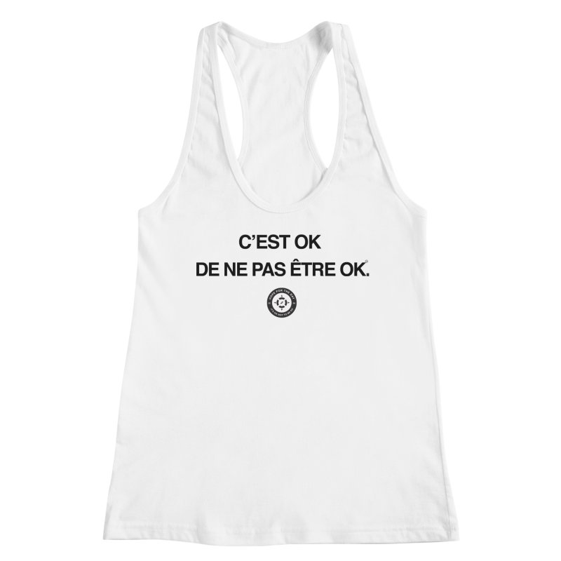 IT'S OK French Black Lettering Women's Tank by Hope for the Day Shop