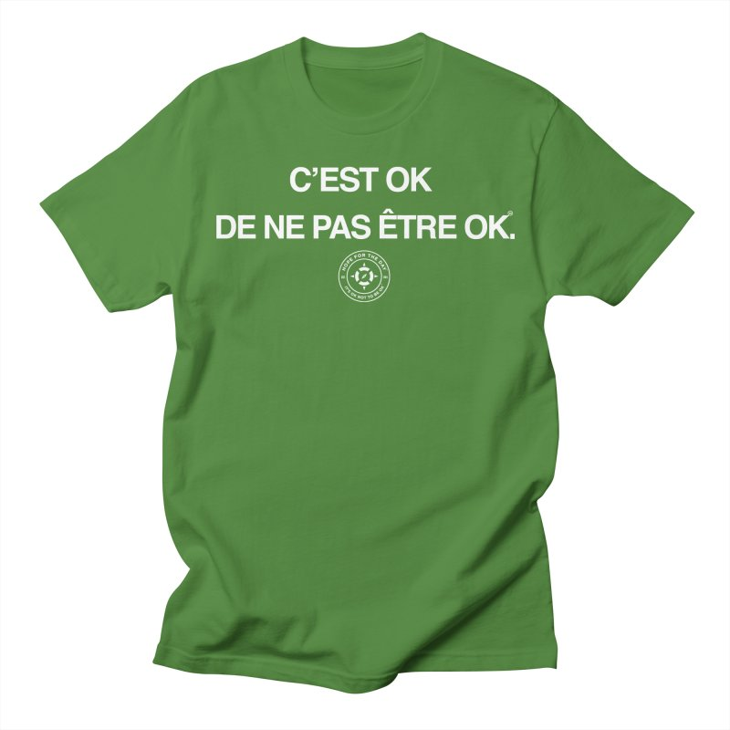 IT'S OK French White Lettering Men's T-Shirt by Hope for the Day Shop