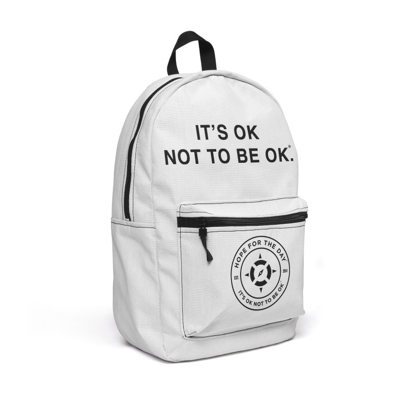 IT'S OK Black Lettering Accessories Backpack Bag by Hope for the Day Shop