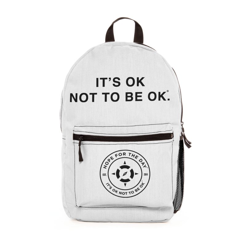 IT'S OK Black Lettering Accessories Bag by Hope for the Day Shop