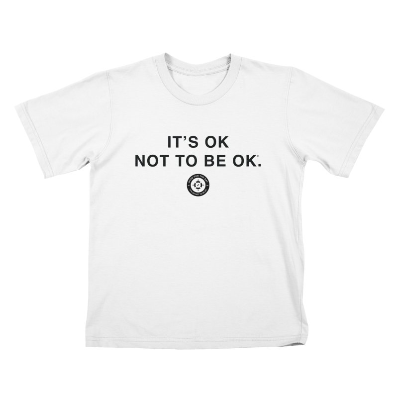 IT'S OK Black Lettering Kids T-Shirt by Hope for the Day Shop