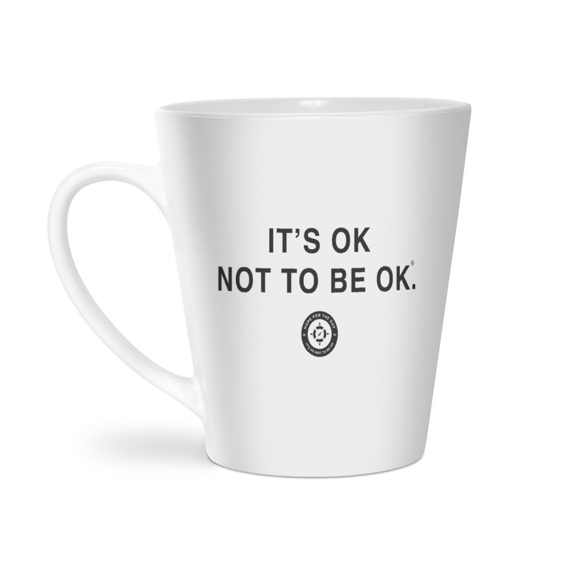 IT'S OK Black Lettering Accessories Latte Mug by Hope for the Day Shop