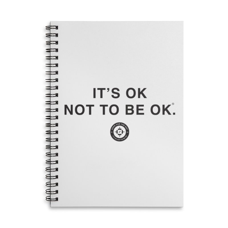 IT'S OK Black Lettering Accessories Lined Spiral Notebook by Hope for the Day Shop