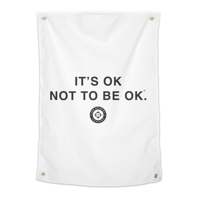 IT'S OK Black Lettering in Tapestry by Hope for the Day Shop