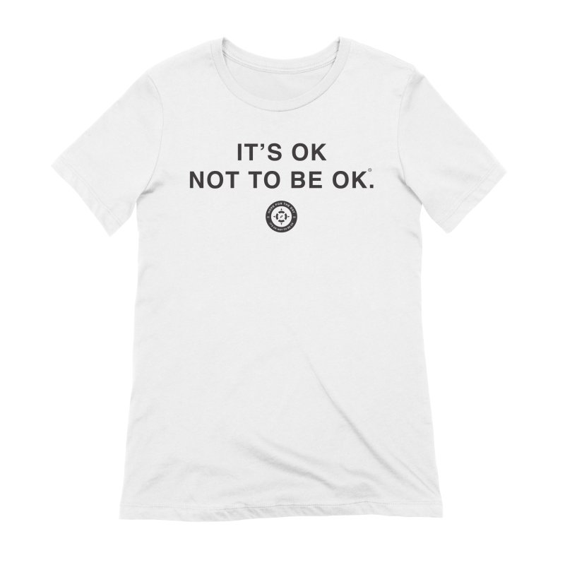 IT'S OK Black Lettering Women's Extra Soft T-Shirt by Hope for the Day Shop