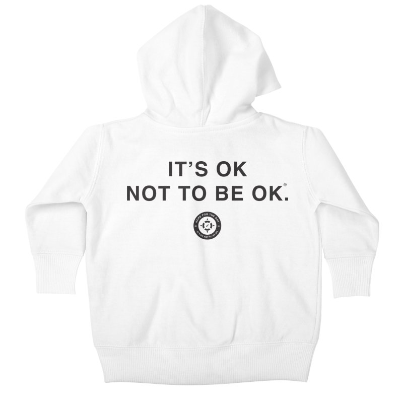 IT'S OK Black Lettering Kids Baby Zip-Up Hoody by Hope for the Day Shop
