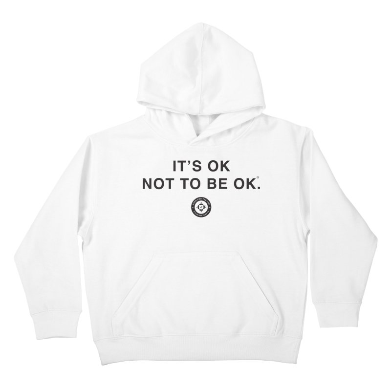 IT'S OK Black Lettering Kids Pullover Hoody by Hope for the Day Shop