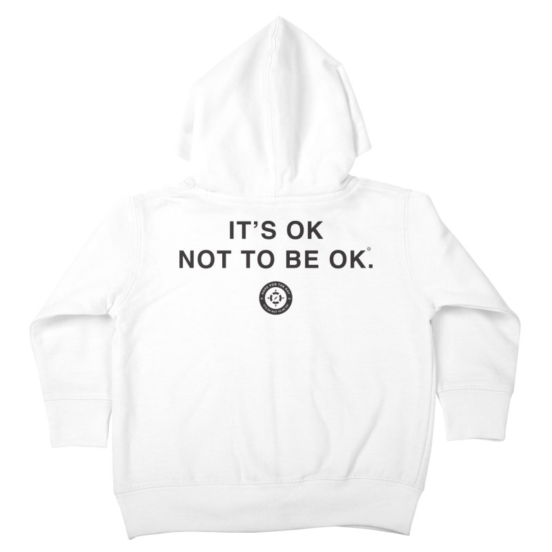 IT'S OK Black Lettering Kids Toddler Zip-Up Hoody by Hope for the Day Shop