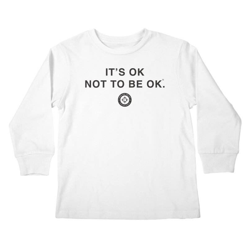 IT'S OK Black Lettering Kids Longsleeve T-Shirt by Hope for the Day Shop