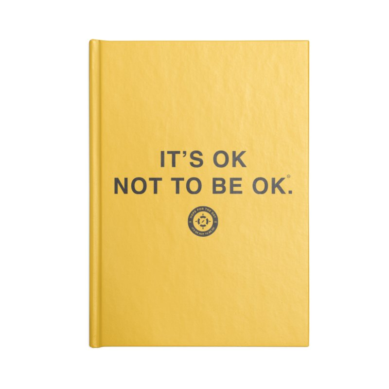 IT'S OK Black Lettering Accessories Blank Journal Notebook by Hope for the Day Shop